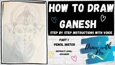 How to Draw Lord Ganesh - Advanced Part 1 for KS2 (Pencil Sketch)