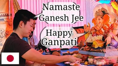 "Japanese in India: ""Ganpati"" for First Time!  - Ganesh Chaturthi - मैं गणपति देखने गया"