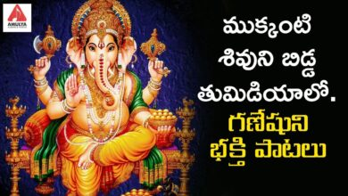 Lord Ganesh Latest Devotional Songs | Mukkanti Shivuni Bidda Thumidiyalo Song | Amulya Audios