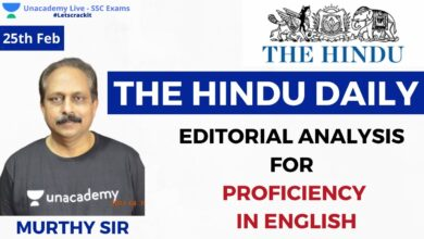 SSC CGL 2020 | The Hindu Editorial Analysis for proficiency in English | PART 19 | Venkata Korlapati