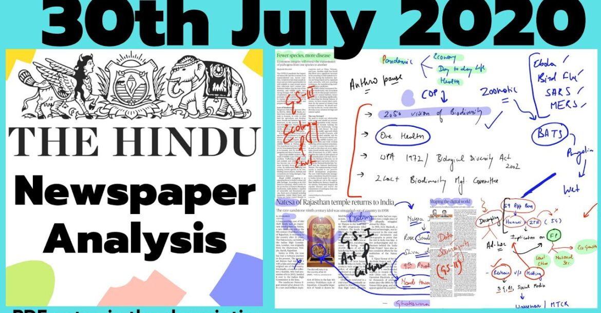 The Hindu Newspaper Analysis 30 July 2020   Current Affairs for UPSC CSE/IAS  