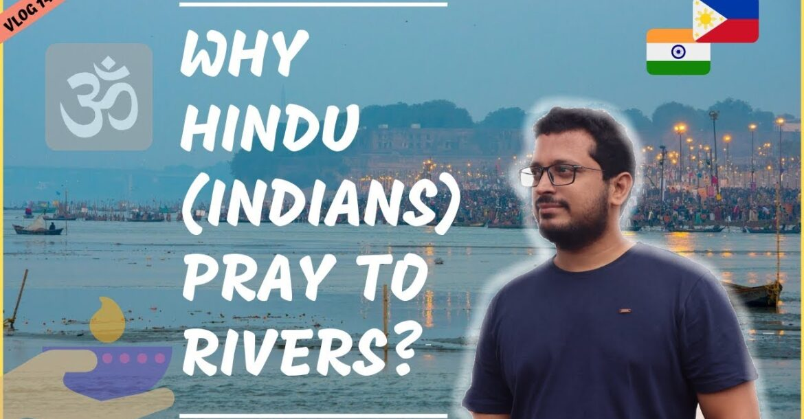 WHY HINDU (INDIANS) PRAY TO THE RIVERS II Filipino Indian Family Vlog #147