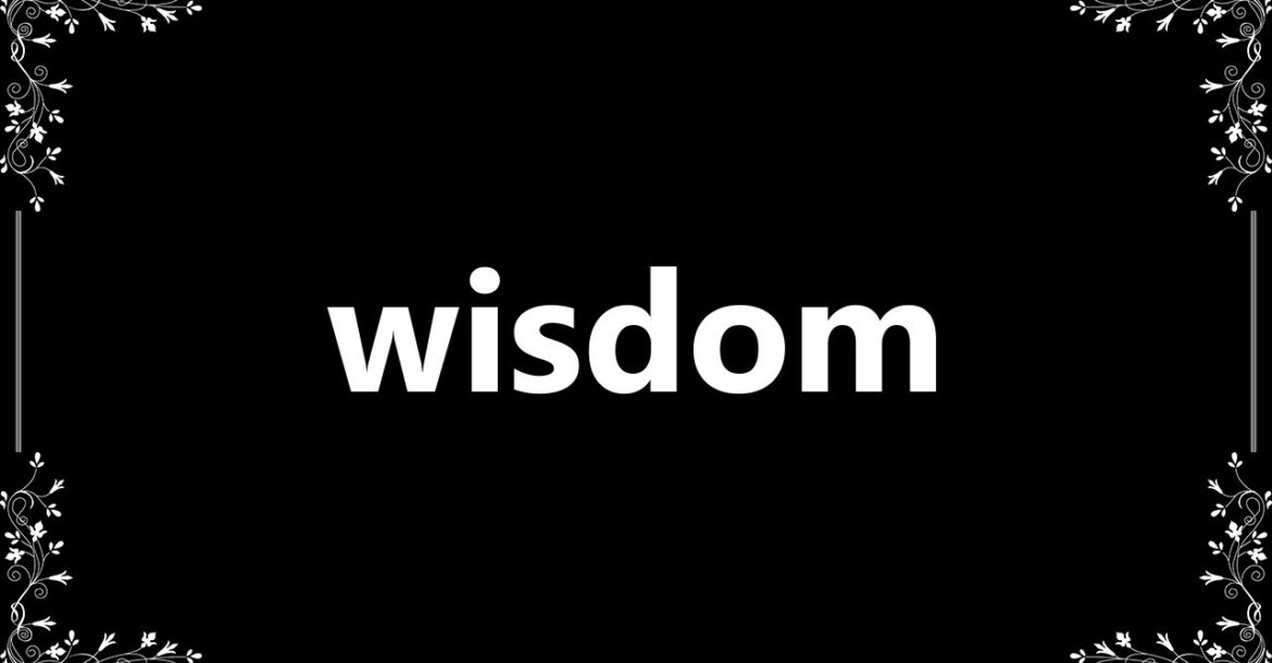 Wisdom - Definition and How To Pronounce