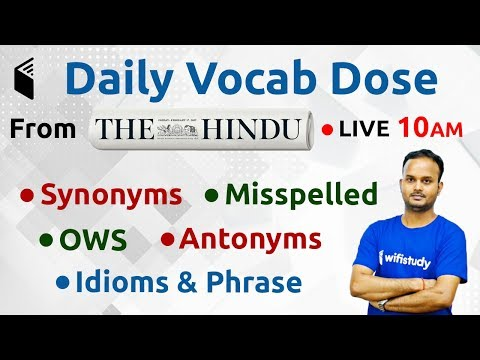 10:00 AM - The Hindu Vocab Dose by Sanjeev Sir | 16th July 2019 | Day #2