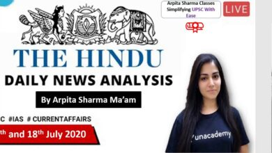 17th and 18th July 2020 : The Hindu Analysis | Current Affairs | Arpita Sharma