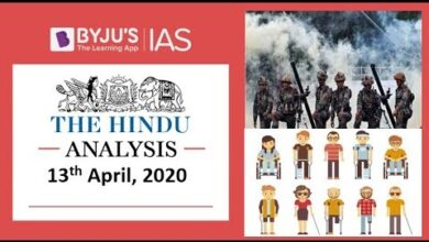 'The Hindu' Analysis for 13th April, 2020. (Current Affairs for UPSC/IAS)