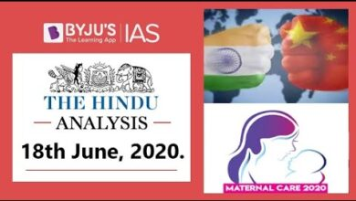 'The Hindu' Analysis for 18th June, 2020. (Current Affairs for UPSC/IAS)