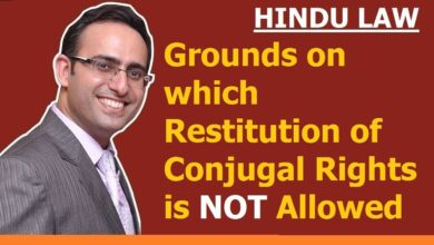 FAMILY LAW - HINDU LAW #13    Grounds on which Restitution is NOT allowed