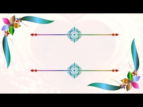 FLOWERS DESING TITLE BACKGROUND ANIMATION VIDEO SOFT AND CLEAN   DMX HD BG 370