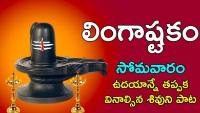 Lingashtakam - Brahma murari surarchita lingam | Lord Shiva Songs | Telugu Devotional Songs