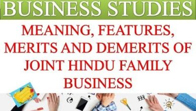MEANING, FEATURES, MERITS AND DEMERITS OF JOINT HINDU FAMILY BUSINESS   BUSINESS STUDIES VIDEOS