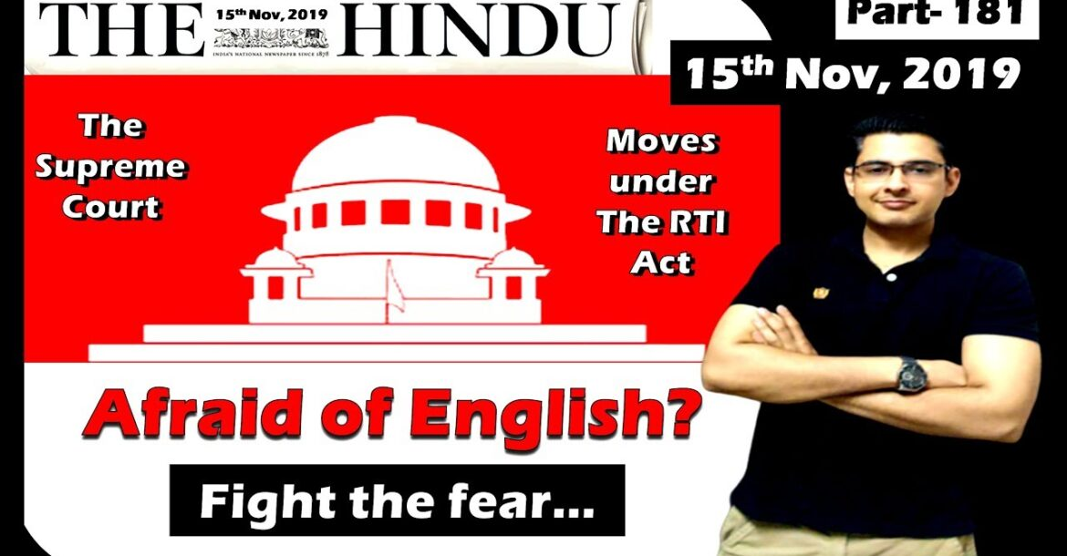 The Hindu Editorial Analysis   15 Nov 2019   The Hindu Newspaper today   Open, all the same