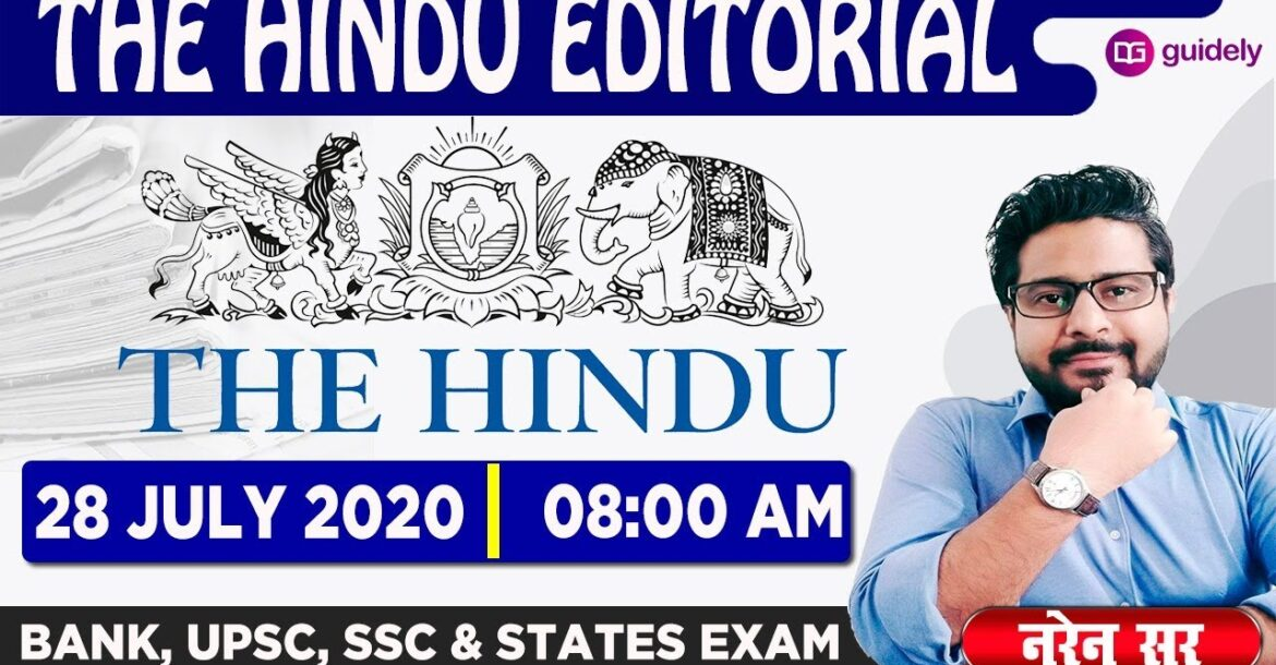The Hindu Editorial Grammar and Vocabulary by Naren Sir | 28 July 2020 | Guidely