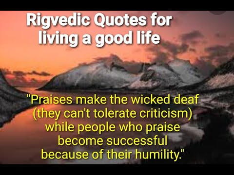 Vedic quotes for living a good life