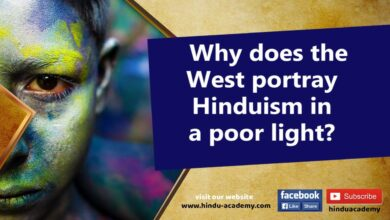Why does the West portray Hinduism in a poor light?