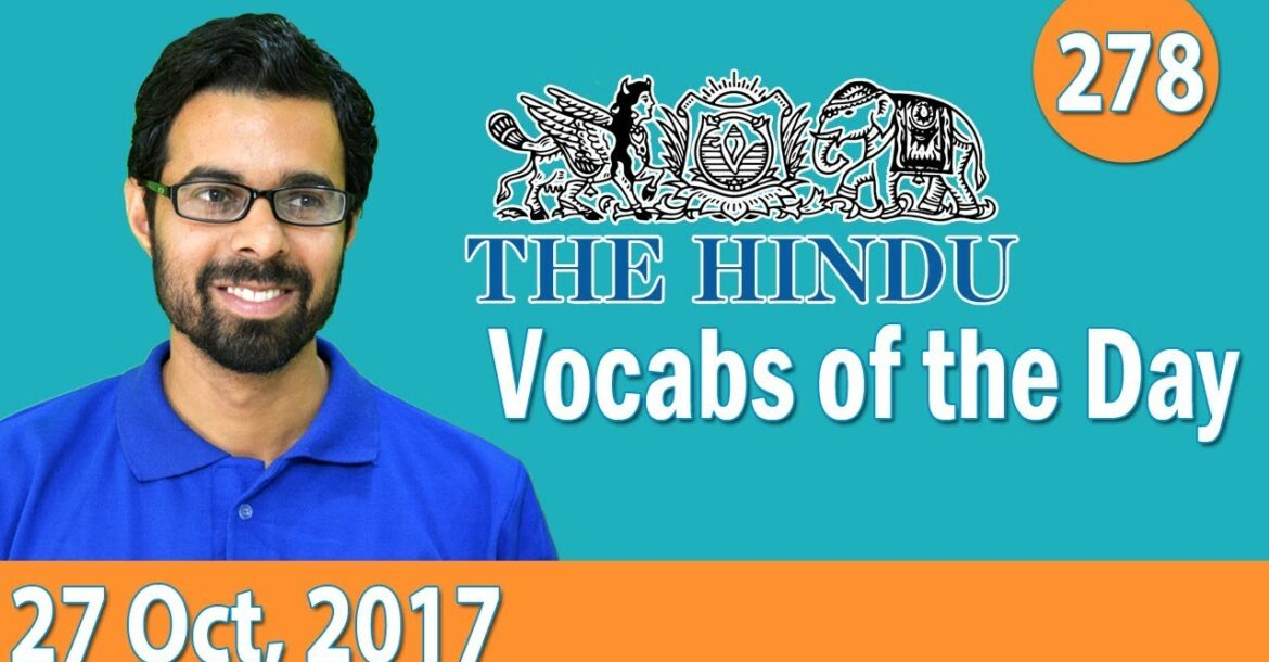 ✅ Daily The Hindu Vocabulary (27th Oct, 2017) - Learn 10 New Words with Tricks | Day-278