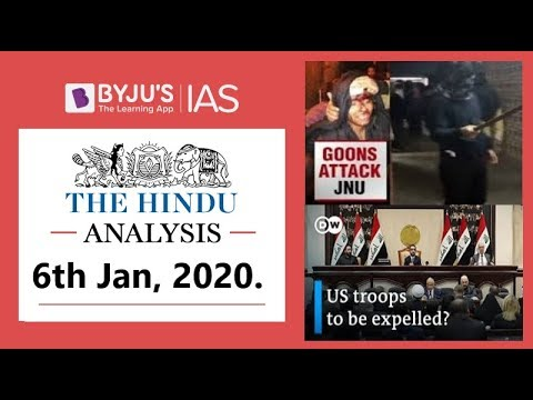 'The Hindu' Analysis for 6th Jan, 2020. (Current Affairs for UPSC/IAS)