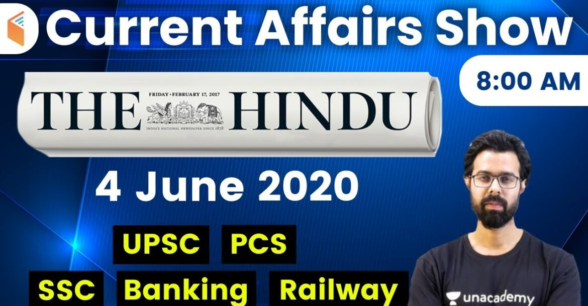 8:00 AM - Daily Current Affairs 2020 by Bhunesh Sir | 4 June 2020 | wifistudy