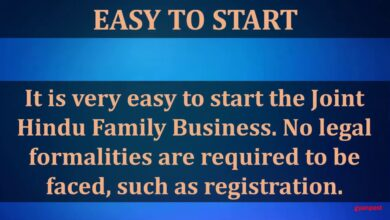 JOINT HINDU FAMILY BUSINESS MEANING, CHARACTERISTICS AND ADVANTAGES