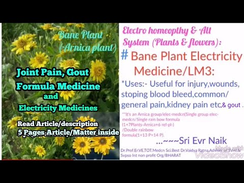 Joint Pain | Gout | FORMULA | Electricity | LM3 | Electro Homeopathy Medicine | SVPSO Int Org World