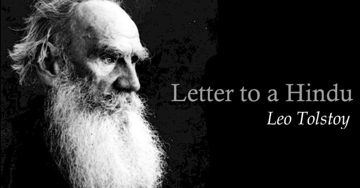Leo Tolstoy, A Letter to a Hindu ( Complete )