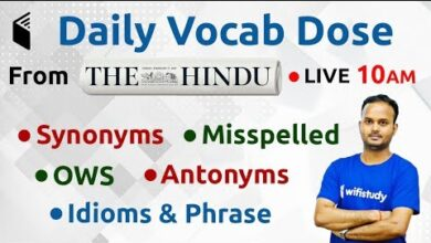 10:00 AM - The Hindu Vocab Dose by Sanjeev Sir | 1 Aug 2019 | Day #14