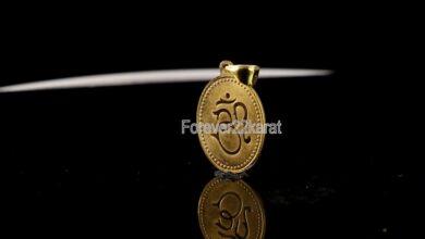 Beautiful Solid Gold  Hindu Religion Om and Lord Ganesha  Coated Locket Pendant Forever22karat#p4007