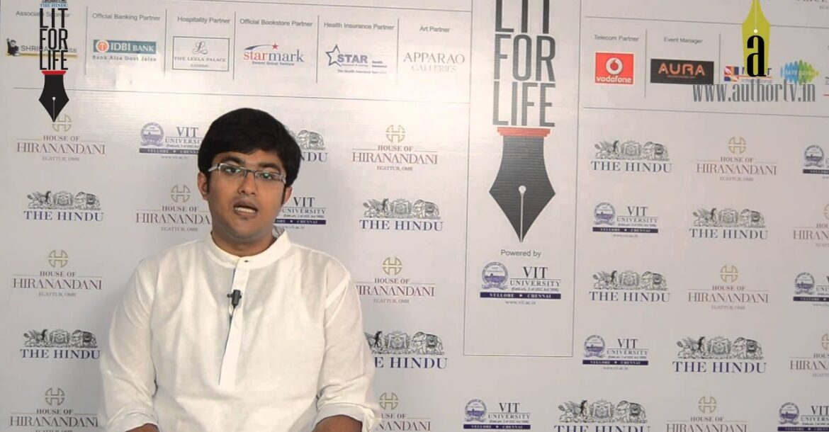 Vikram Sridhar at The Hindu Lit for Life 2014
