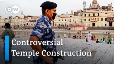 Controversial Hindu temple construction on demolished mosque site in India | DW News