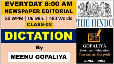 Day 02 | The Hindu Newspaper English Steno Dictation 80 WPM | Rajasthan High Court Stenographer Exam