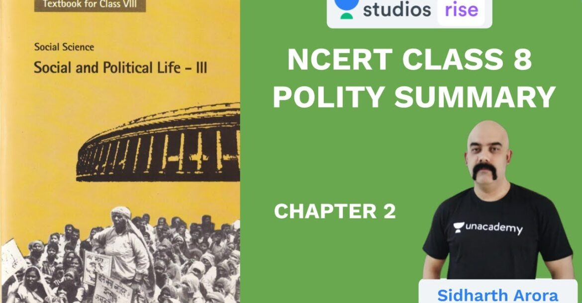 L2: NCERT Class 8 Polity (Chapter 2) | NCERT Summaries | UPSC CSE/IAS 2020 | Sidharth Arora