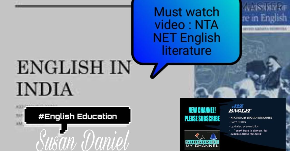English Education IN INDIA- Part1
